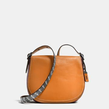 Coach Saddle Bag With Colorblock Snake Detail