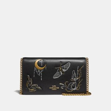 Coach Callie Foldover Chain Clutch With Tattoo