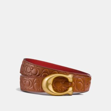 Coach Sculpted Signature Reversible Belt In Signature Leather