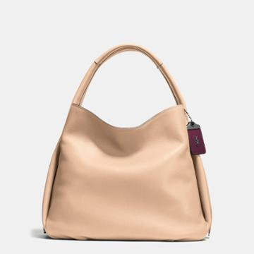 Coach Bandit Hobo 39 In Natural Pebble Leather