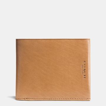 Coach Modern Billfold Wallet In Water Buffalo Leather
