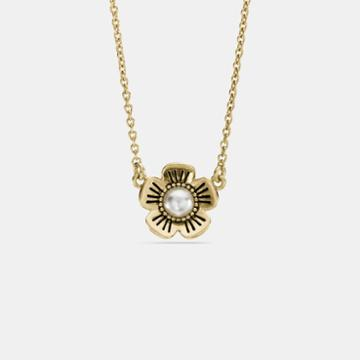 Coach Willow Floral Pearl Necklace