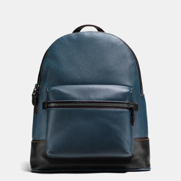 Coach League Backpack In Glovetanned Pebble Leather