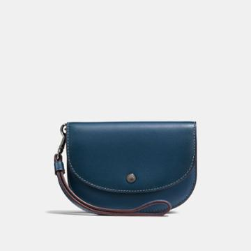 Coach Double Pouch In Colorblock