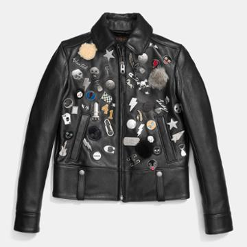 Coach Embellished Racer Jacket