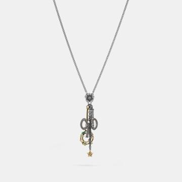 Coach Bow Charm Necklace