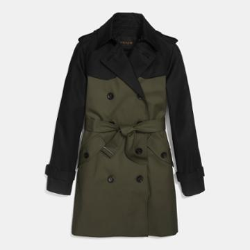 Coach Colorblock Trench