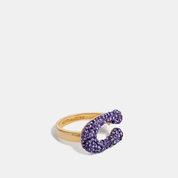 Coach Crystal Signature Ring