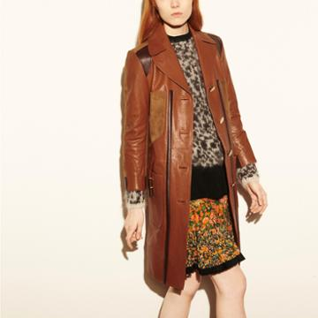 Coach 1941 Combo Leather Coat