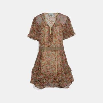 Coach Retro Floral Print Dress