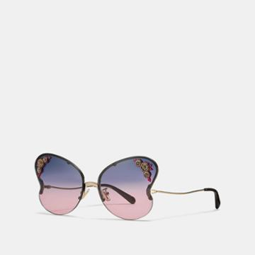 Coach Butterfly Frame Sunglasses