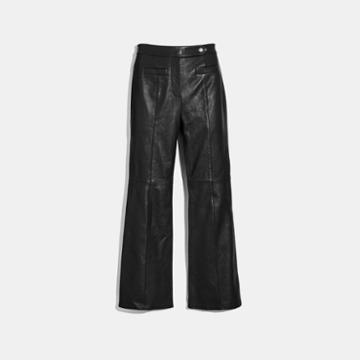 Coach Leather Flare Trousers