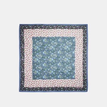 Coach Sleeping Rose Print Silk Square Scarf