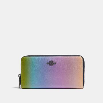 Coach Accordion Zip Wallet With Ombre