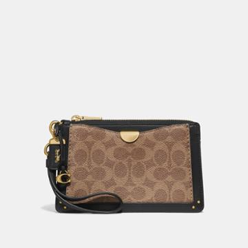 Coach Dreamer Wristlet In Signature Canvas