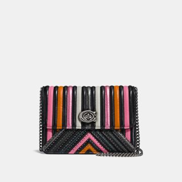 Coach Bowery Crossbody With Colorblock Quilting And Rivets