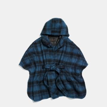 Coach Plaid Cape