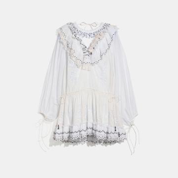 Coach Romantic Mini Dress With Stud Embellishments
