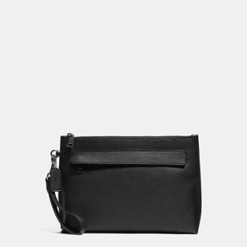 Coach Pouch In Pebble Leather