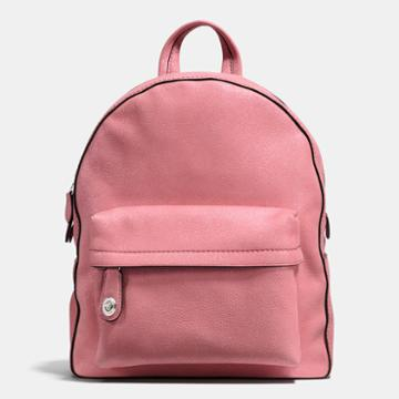 Coach Campus Backpack In Glitter Rose Polished Pebble Leather