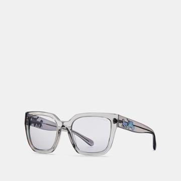 Coach Horse And Carriagre Hologram Square Sunglasses