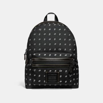 Coach Academy Backpack With Dot Diamond Print
