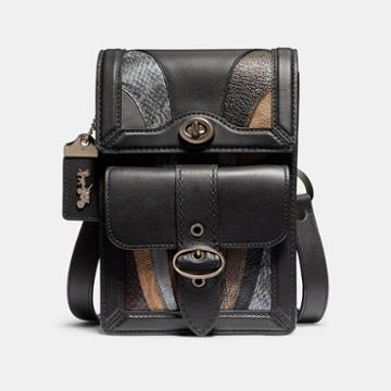 Coach Riley Crossbody With Wave Patchwork And Snakeskin Detail