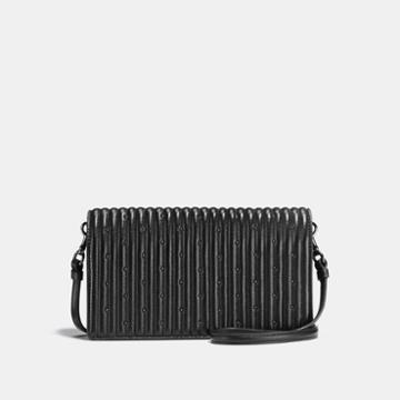 Coach Foldover Crossbody Clutch With Quilting And Rivets
