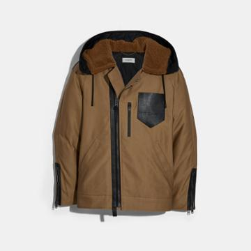 Coach Hooded Military Jacket