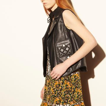 Coach 1941 Applique Biker Vest