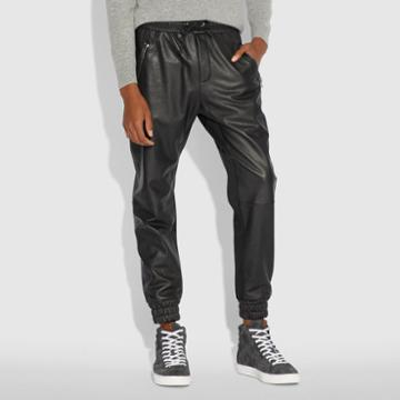 Coach Leather Track Pant