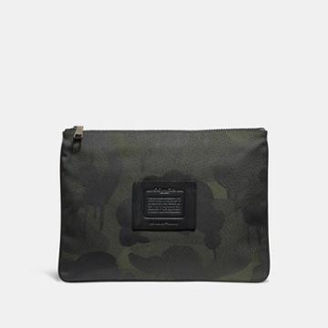 Coach Large Multifunctional Pouch With Wild Beast Print