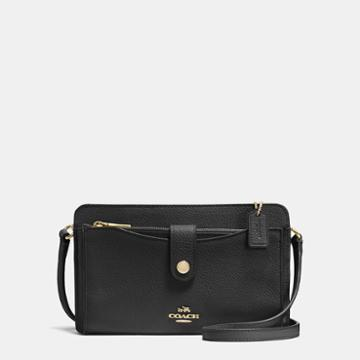 Coach Pop-up Messenger In Polished Pebble Leather