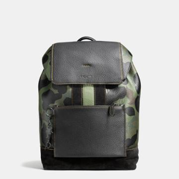 Coach Manhattan Backpack In Wild Beast Pebble Leather