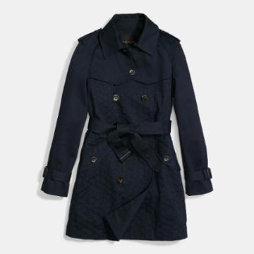 Coach Eyelet Trench Coat