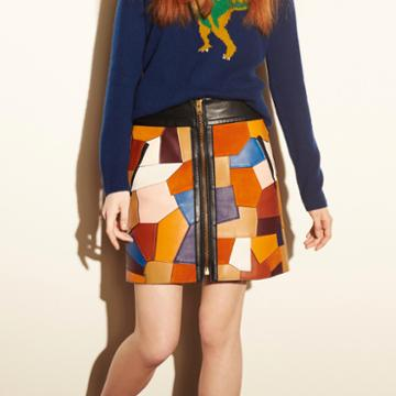 Coach 1941 Patchwork Skirt