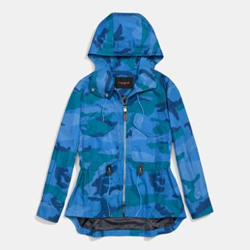 Coach Camo Sporty Zip Windbreaker
