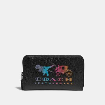 Coach Medium Zip Around Wallet With Rexy And Carriage
