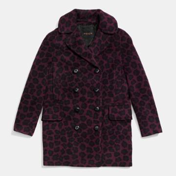 Coach Ocelot Long Peacoat