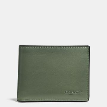 Coach Slim Billfold Wallet In Burnished Sport Calf Leather