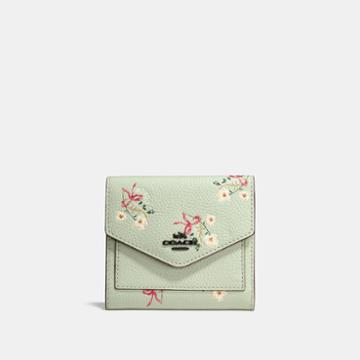 Coach Small Wallet With Floral Bow Print