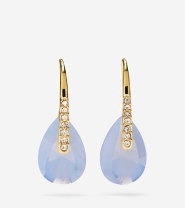 Cole Haan Womens Gem Drops Blue Air Opal & Crystal Earrings