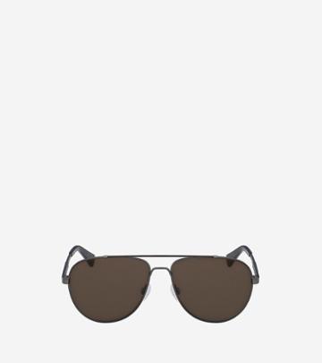 Cole Haan Womens Metal Aviator Sunglasses