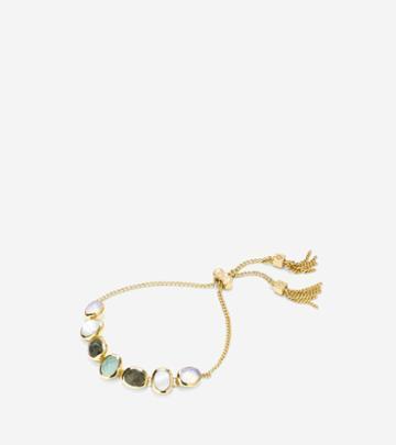 Cole Haan Womens Water Under The Bridge Semi-precious Pull Tie Bracelet