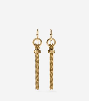 Cole Haan Women's Put A Ring On It Linear Chain Tassel Earrings