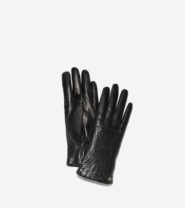 Cole Haan Women's Genevieve Weave Gloves