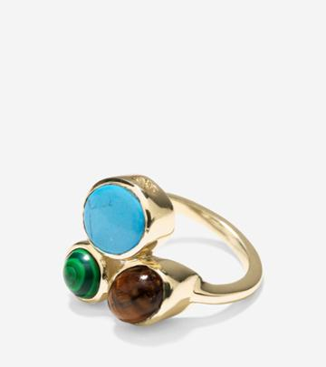 Cole Haan Womens Spring Street Fashion Semi-precious Cluster Ring