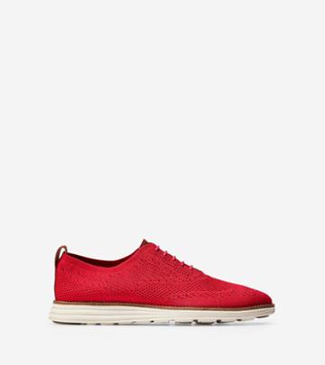 Cole Haan Men's Originalgrand Knit Wingtip Oxford Shoes With Stitchlite