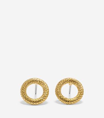 Cole Haan Women's Put A Ring On It Open Stud Earrings