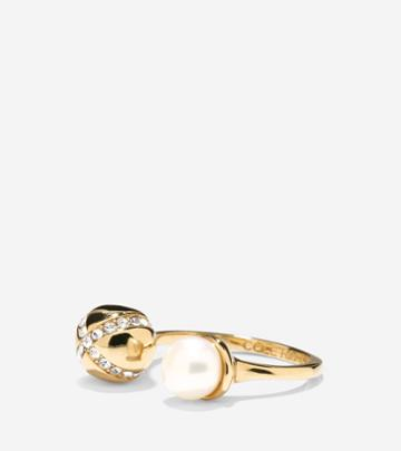 Cole Haan Women's Set The Ball In Motion Fresh Water Pearl Ring